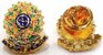 Distintivo Agente De Segurança Pessoal Couro Folheado A Ouro Brinde Bótom - Imagem 4