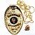 Distintivo Agente De Segurança Folheado A Ouro Brinde Bótom - Imagem 2