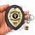 Distintivo Agente De Segurança Couro Folheado Brinde Bótom - Imagem 4