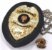 Distintivo Agente De Segurança Couro Folheado Brinde Bótom - Imagem 2