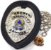 Distintivo Agente De Escolta Armada Couro Folheado Brinde Bótom - Imagem 1