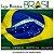 Bótom Pim Broche Bandeira Brasil X Indonésia Folheado A Ouro - Imagem 5