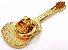 Bótom Pim Broche Violão Instrumento Musical Folheado A Ouro - Imagem 3