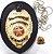 Distintivo Investigador Particular Civil Couro Folheado A Ouro Brinde Bótom - Imagem 3