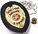 Distintivo Investigador Particular Civil Couro Folheado A Ouro Brinde Bótom - Imagem 1