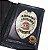 Distintivo Carteira Porta Funcional Couro Agente De Escolta Armada Folheado À Prata Brinde Bótom - Imagem 1