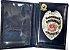 Distintivo Carteira Porta Funcional Couro Agente De Escolta Armada Folheado À Prata Brinde Bótom - Imagem 2
