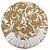 Tapete Union Bowl  Branco com Dourado- Base protetora - Imagem 1