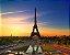 Quadro Decorativo Poster Paris em Canvas - Imagem 1