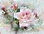 Quadro Decorativo Poster Pintura de Flores Claras - Imagem 1