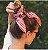 Lenço de seda indiano floral com xadrez - Imagem 4