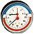503 Termomanômetro posterior D80 120°C 1/2'' CALEFFI - Imagem 1