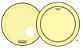 """Kit de Peles Remo Powerstroke 3 Colortone Batedeira + Resposta Amarela p/ Bumbo 22"""" - Imagem 1"""