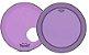 "Kit de Peles Remo Powerstroke 3 Colortone Batedeira + Resposta Roxa p/ Bumbo 18"" - Imagem 1"