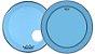 """Kit de Peles Remo Powerstroke 3 Colortone Batedeira + Resposta Azul p/ Bumbo 18"""" - Imagem 1"""