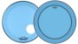 """Kit de Peles Remo Powerstroke 3 Colortone Batedeira + Resposta Azul p/ Bumbo 22"""" - Imagem 1"""