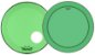 "Kit de Peles Remo Powerstroke 3 Colortone Batedeira + Resposta Verde p/ Bumbo 20"" - Imagem 1"