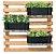Kit Horta Horizontal 80cm x 80cm com 3 Jardineiras Pretas - Imagem 1