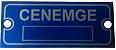 500 - Etiquetas de aluminio patrimonio frete gratis - Imagem 2