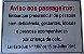 """Placa Aluminio Lei 7397 SP - """"Aviso aos passageiros""""Pronta entrega - Imagem 1"""