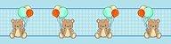 Adesivo faixa de parede Ursinho com Balões - Imagem 3
