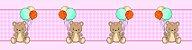 Adesivo faixa de parede Ursinho com Balões - Imagem 2