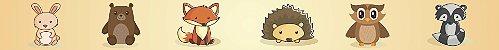 Adesivo faixa de parede Animais da Floresta - Imagem 3