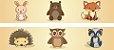 Adesivo faixa de parede Animais da Floresta - Imagem 2