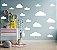 Kit Adesivos Nuvens Brancas com base reta - Imagem 4