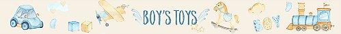 Adesivo faixa de parede Boy's Toys Aquarela - Imagem 2