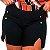 Short Plus Size Preto Com Botão - Imagem 1