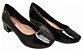 Sapato Feminino Dakota Salto Grosso Preto & Rose G1081 - Imagem 7