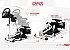 Suporte para volante - EXR-S PRO Branco - Compatível com Logitech, Fanatec e Thrustmaster. - Imagem 2