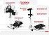 Suporte para volante - EXR-S PRO Branco - Compatível com Logitech, Fanatec e Thrustmaster. - Imagem 3