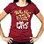 Camiseta feminina Who Run the World? bordô - Imagem 1