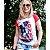 Camiseta feminina raglan vermelha True Love - Imagem 3