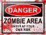 Placa Decorativa - Danger Zombie Area - Imagem 1