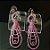 Brinco Rosa com zircônias - Imagem 2