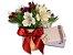KIt Voucher Shiatsu 60' + Arranjo de Astromélia Roxa e Branca em Vaso de Cerâmica Nude  - Imagem 1
