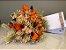 Kit Voucher Day Spa Beleza com Bouquet de Flores Laranjas - Imagem 1