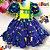 Vestido Infantil de Festa Junina Azul - Imagem 1