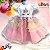 Vestido Infantil de Festa Tema Unicórnio Colorido - Imagem 1
