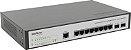 Switch Desktop Gerenc 8 P Giga Ethernet e 2 P Mini GBIC SG 1002MR - Intelbras - Imagem 1