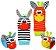 Meias e pulseiras com chocalho zebrinha e burrinho - Imagem 1