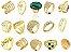 Kit 10 Anéis Folheados A Ouro Direto da Fabrica No Atacado - Imagem 1