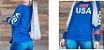Blusa feminina moletinho USA Kit com 5 peças  - Imagem 2