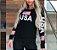 Blusa feminina moletinho USA Kit com 5 peças  - Imagem 1