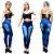 Calça Jeans Feminina Skinny com  Lycra Cintura Alta - Imagem 1