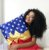 Fronha de Travesseiro de Cetim Mulher Maravilha - Imagem 1