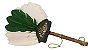 Abanilho Xamânico Branco Com Verde - Imagem 1